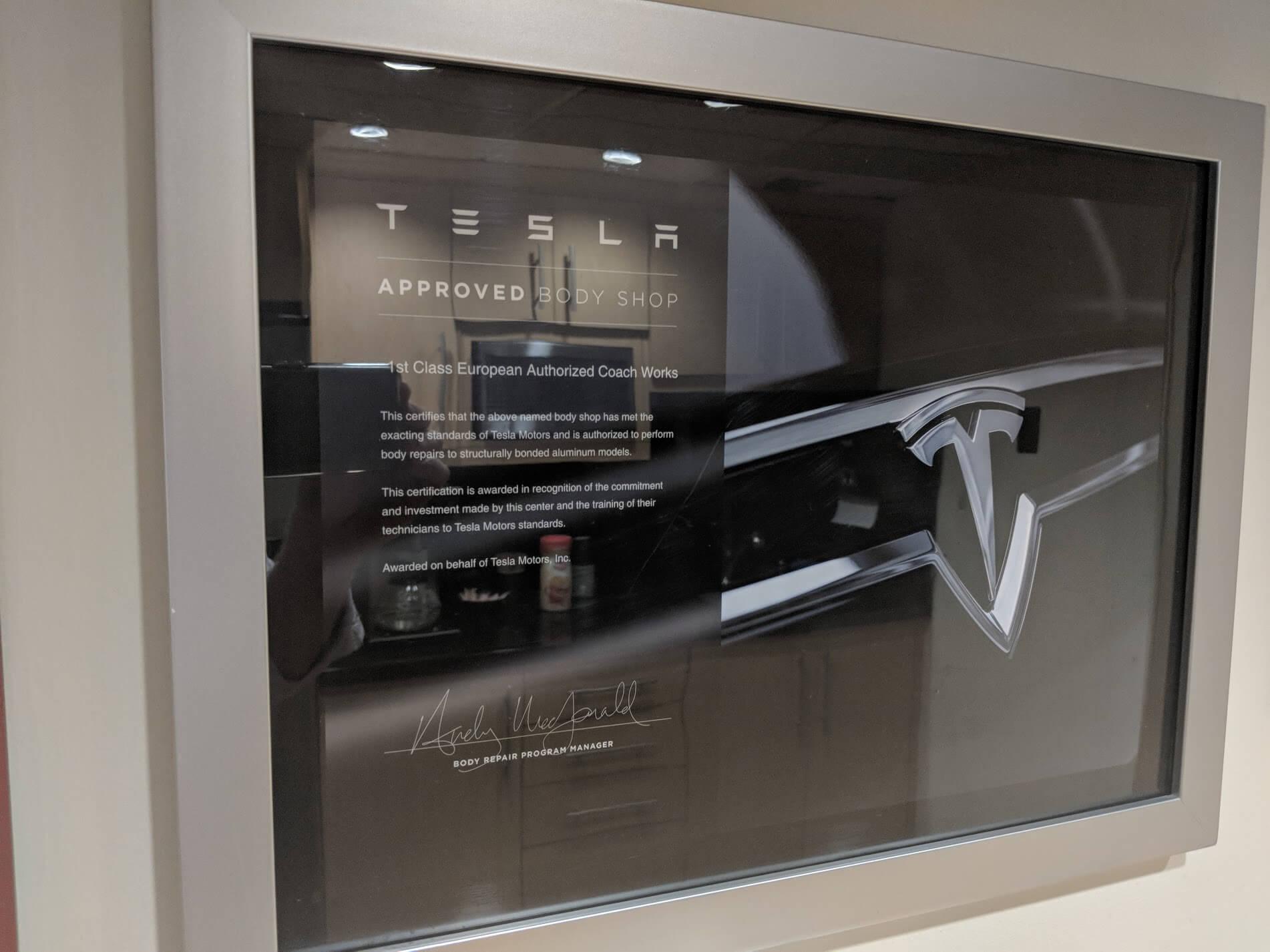Tesla-Aluminum-Repair-Certification